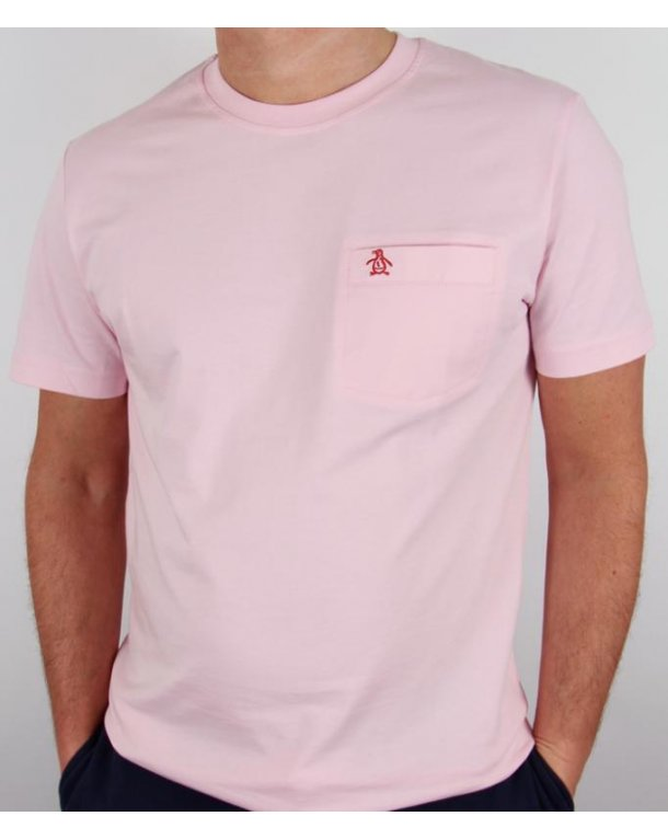 Original Penguin New Pocket T-shirt Pink