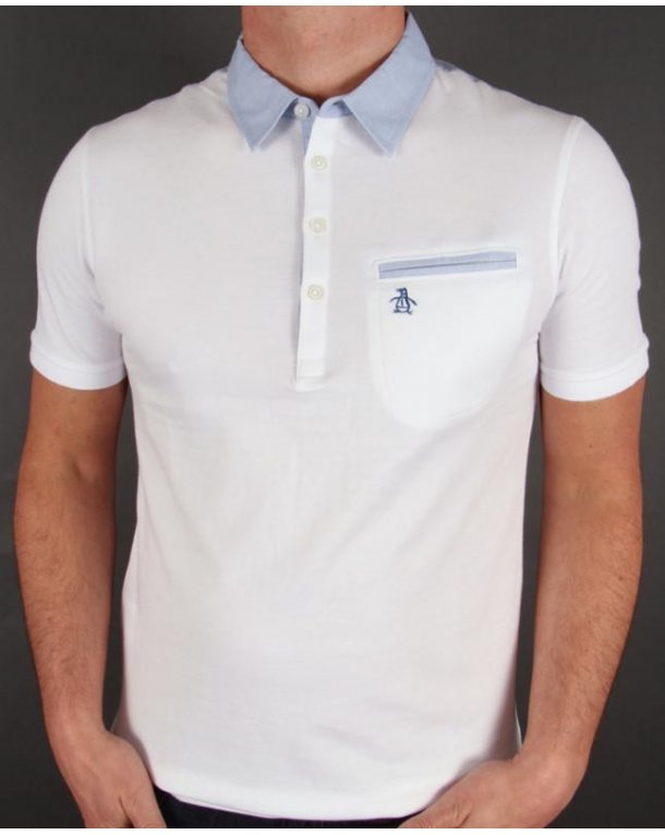Original Penguin Palm Collar Polo Shirt White
