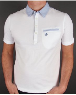 Original Penguin Palm Collar Polo Shirt White