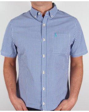 Original Penguin Short Sleeve Gingham Shirt Classic Blue
