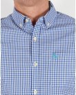 Original Penguin Short Sleeve Gingham Shirt Classic Blue