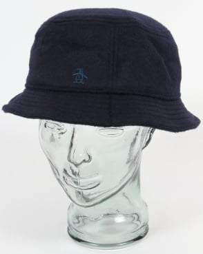 Original Penguin Wool Bucket Hat Dark Sapphire