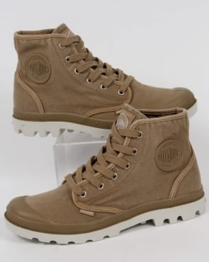 Palladium Pampa Hi Boot Dark Khaki/Silver Birch
