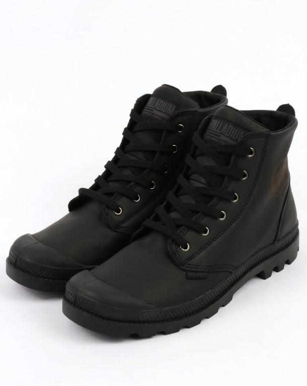 Palladium Pampa Hi Leather Boot Black