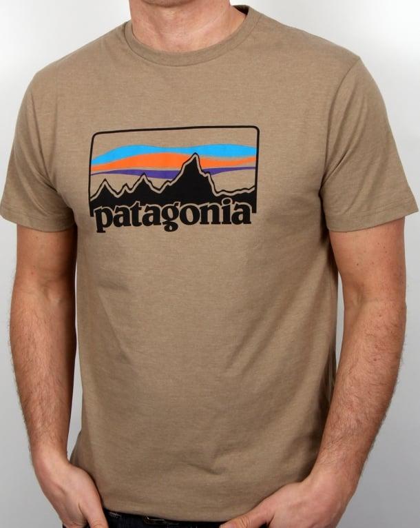 Patagonia 73 Logo T Shirt Mojave Khaki