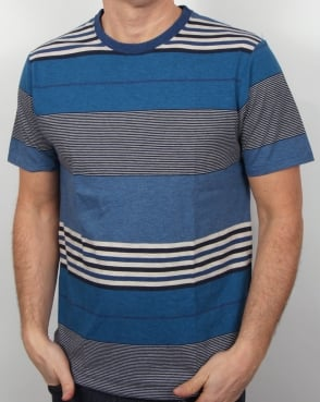 Patagonia Daily Striped T-shirt Channel Blue