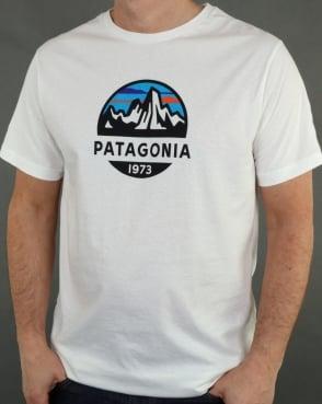 Patagonia Fitz Roy Scope Organic T Shirt White