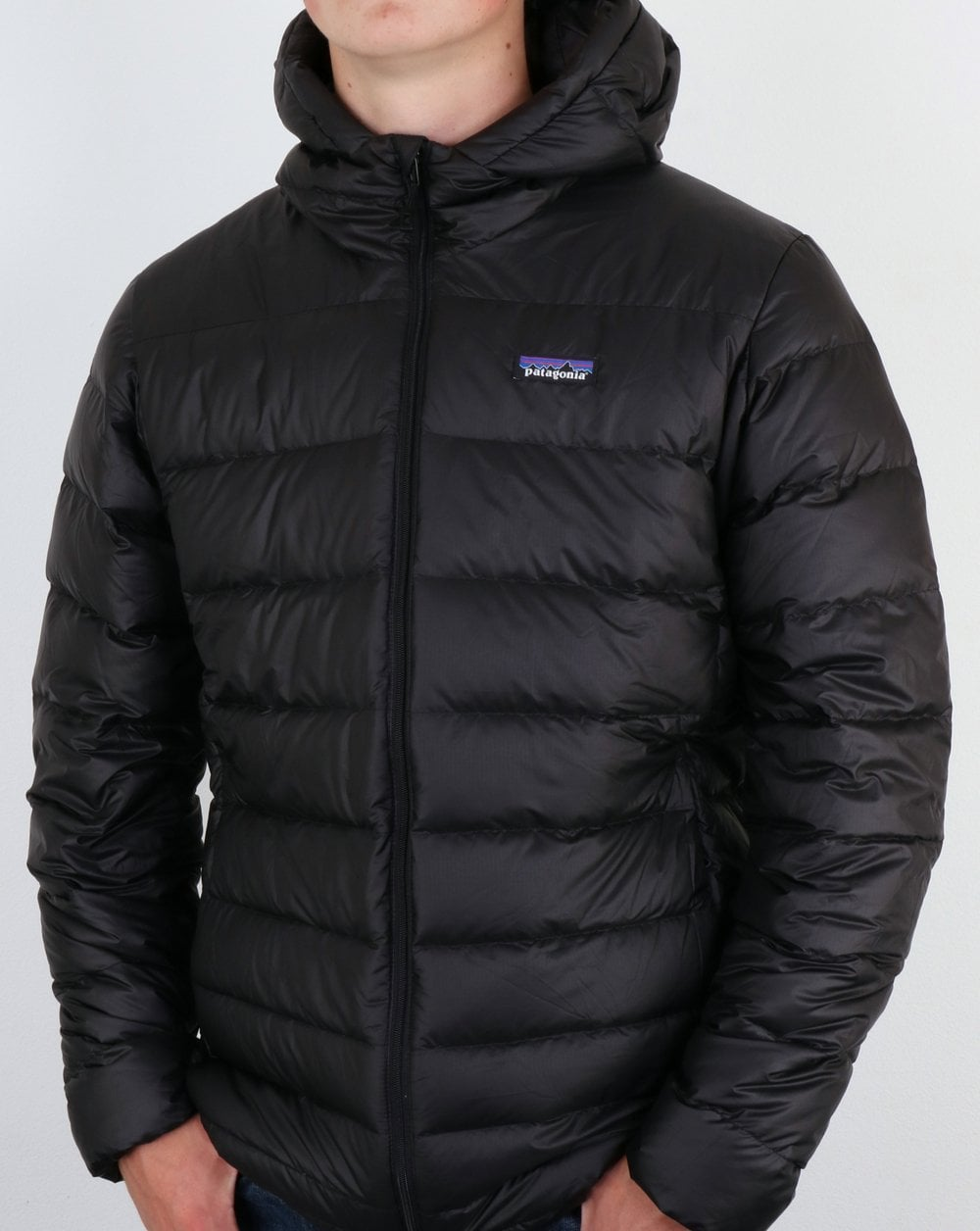 Patagonia Hi Loft Down Hooded Puffer Jacket Black 80s