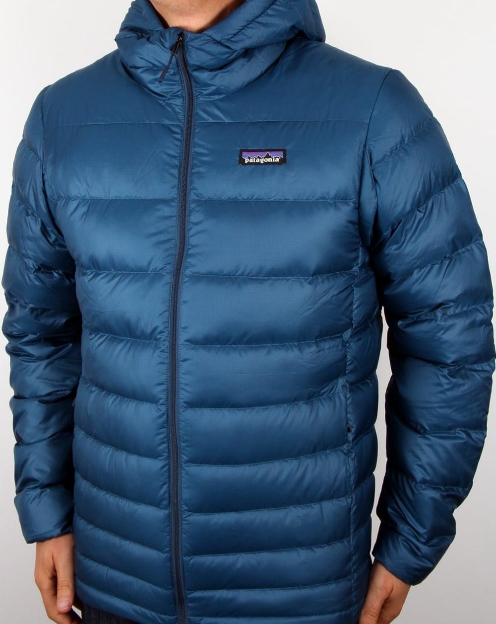 Patagonia Hi Loft Down Hooded Jacket Glass Blue Jackets
