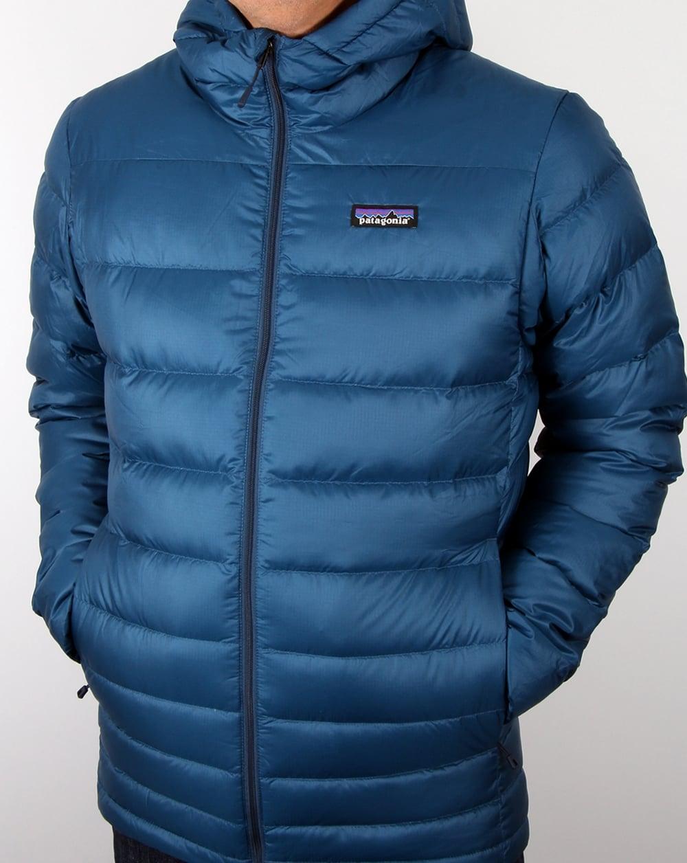 Patagonia Hi Loft Down Hooded Jacket Glass Blue