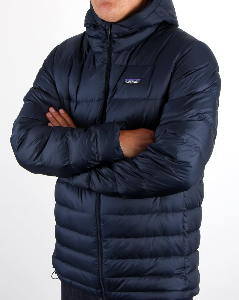 Patagonia Hi Loft Down Hooded Jacket Navy Men S Coat