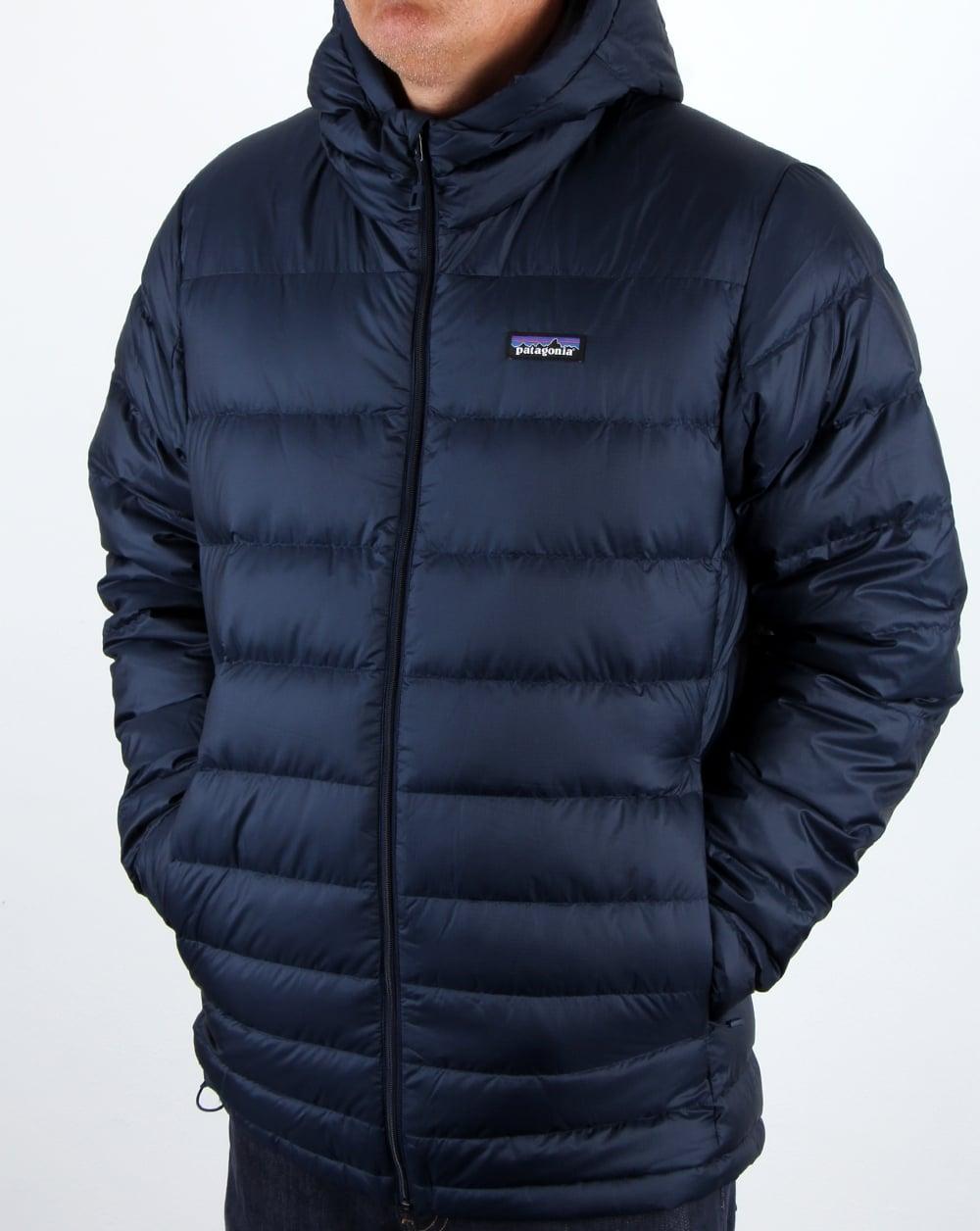 Patagonia Hi Loft Down Hooded Jacket Navy Men S Coat