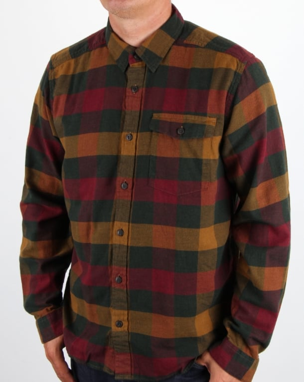 Patagonia Lightweight Fjord Flannel Shirt Drumfire Red