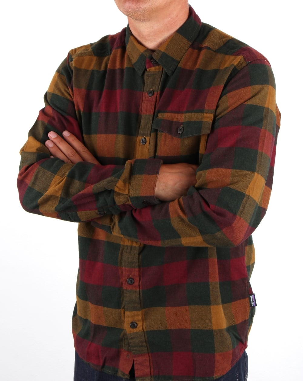 Patagonia lightweight fjord flannel shirt drumfire red men 39 s for Men s lightweight flannel shirts