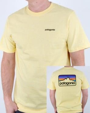 Patagonia Line Logo Badge Responsili-tee Crest Yellow