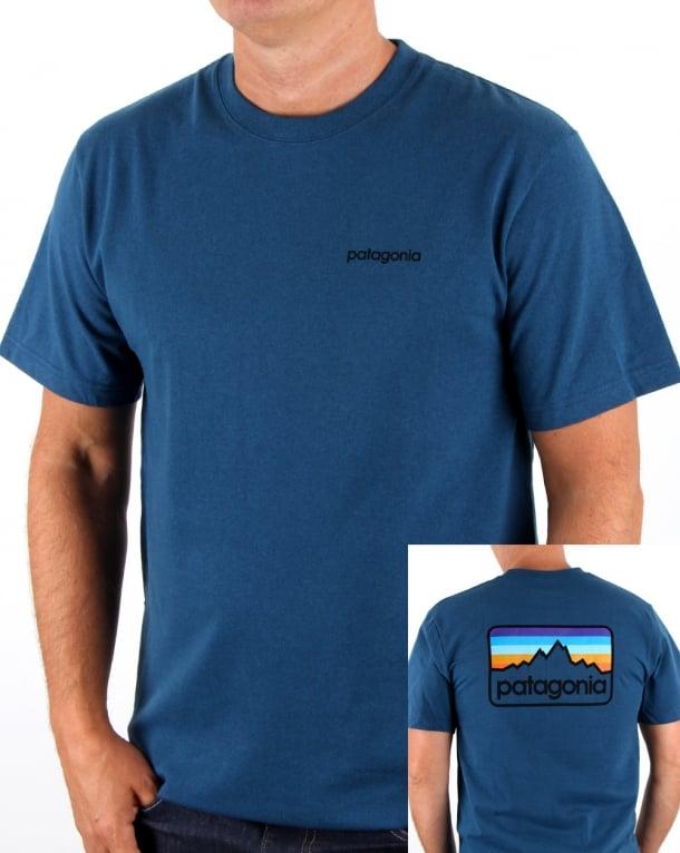 Patagonia Line Logo Badge Responsili-tee Glass Blue
