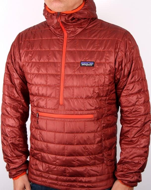 Patagonia Nano Puff Buvy Pullover Jacket Cinder Red