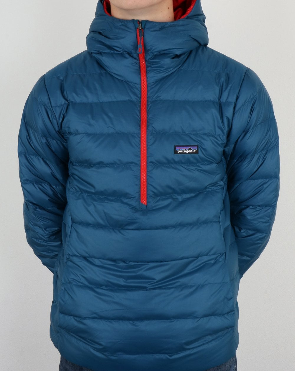 Patagonia Overhead Jacket In Blue Puffer Bubble Coat Mens