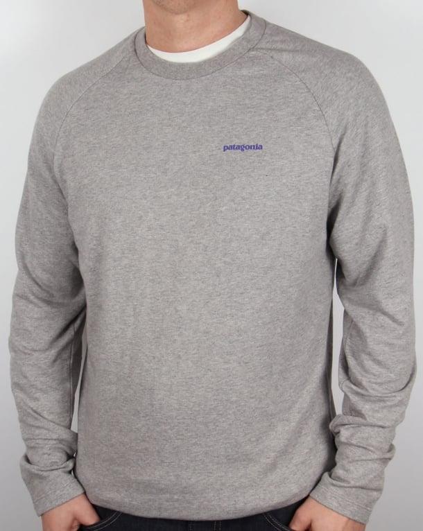 Patagonia P-6 Logo Lightweight Sweatshirt Feather Grey