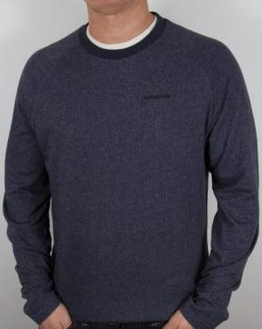 Patagonia P-6 Logo Lightweight Sweatshirt Navy