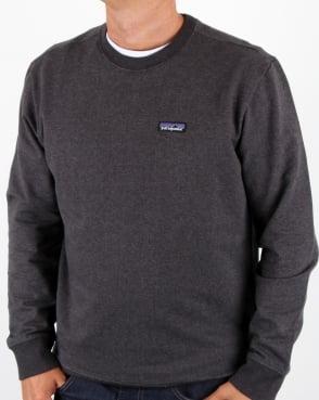 Patagonia P-6 Logo Midweight Sweatshirt Black