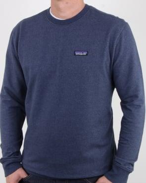 Patagonia P-6 Logo Midweight Sweatshirt Classic Navy