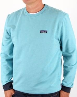 Patagonia P-6 Logo Midweight Sweatshirt Crevasse Blue
