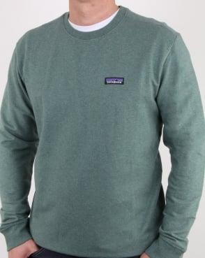 Patagonia P-6 Logo Midweight Sweatshirt Pesto Green