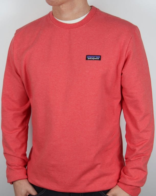 Patagonia P-6 Logo Midweight Sweatshirt Spiced Coral