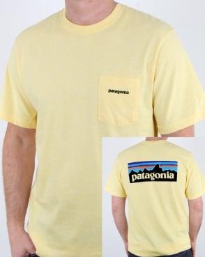 Patagonia P-6 Logo Pocket Responsibili-tee Crest Yellow