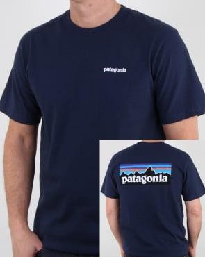 Patagonia P-6 Logo Responsibili-tee Classic Navy