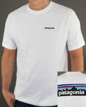 Patagonia P6 Logo Responsibili T-shirt White