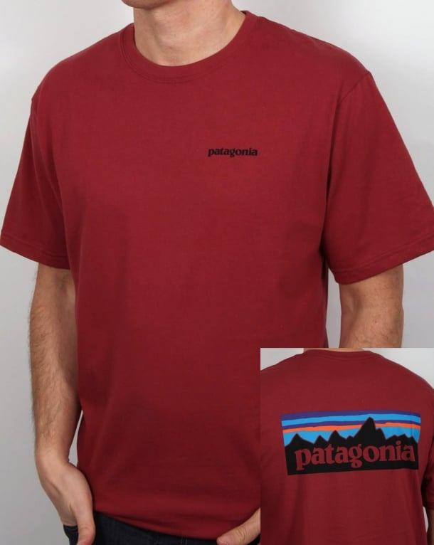 Patagonia P6 Logo T-shirt Adzuki Red