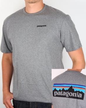 Patagonia P6 Logo T-shirt Gravel Heather