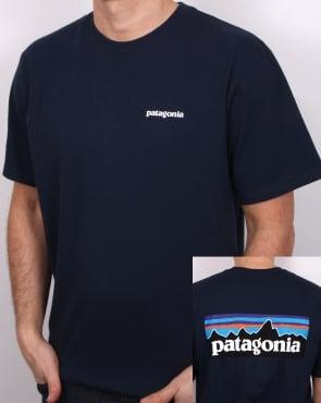 Patagonia P6 Logo T-shirt Navy