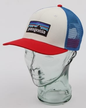 Patagonia P6 Trucker Cap White/Red/Blue