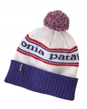 Patagonia Powder Town Beanie Park Stripe/viking Blue