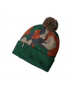 Patagonia Powder Town Bobble Beanie Hat Green Camo