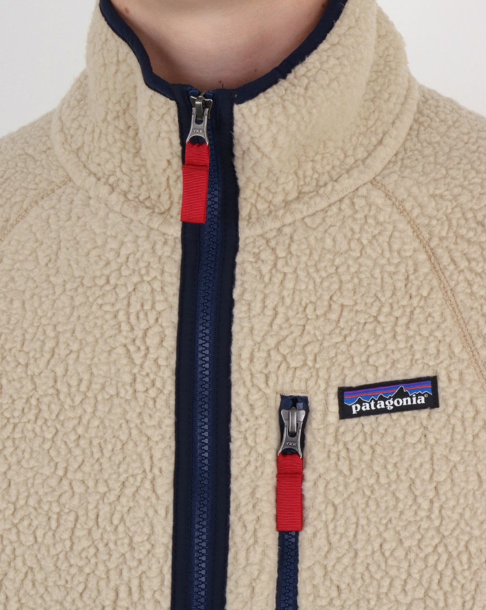 double faced shearling Patagonia Retro Pile Fleece Jacket in Stone