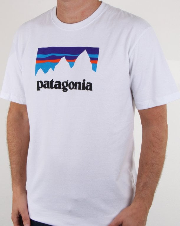 Patagonia Shop Sticker Logo T Shirt White
