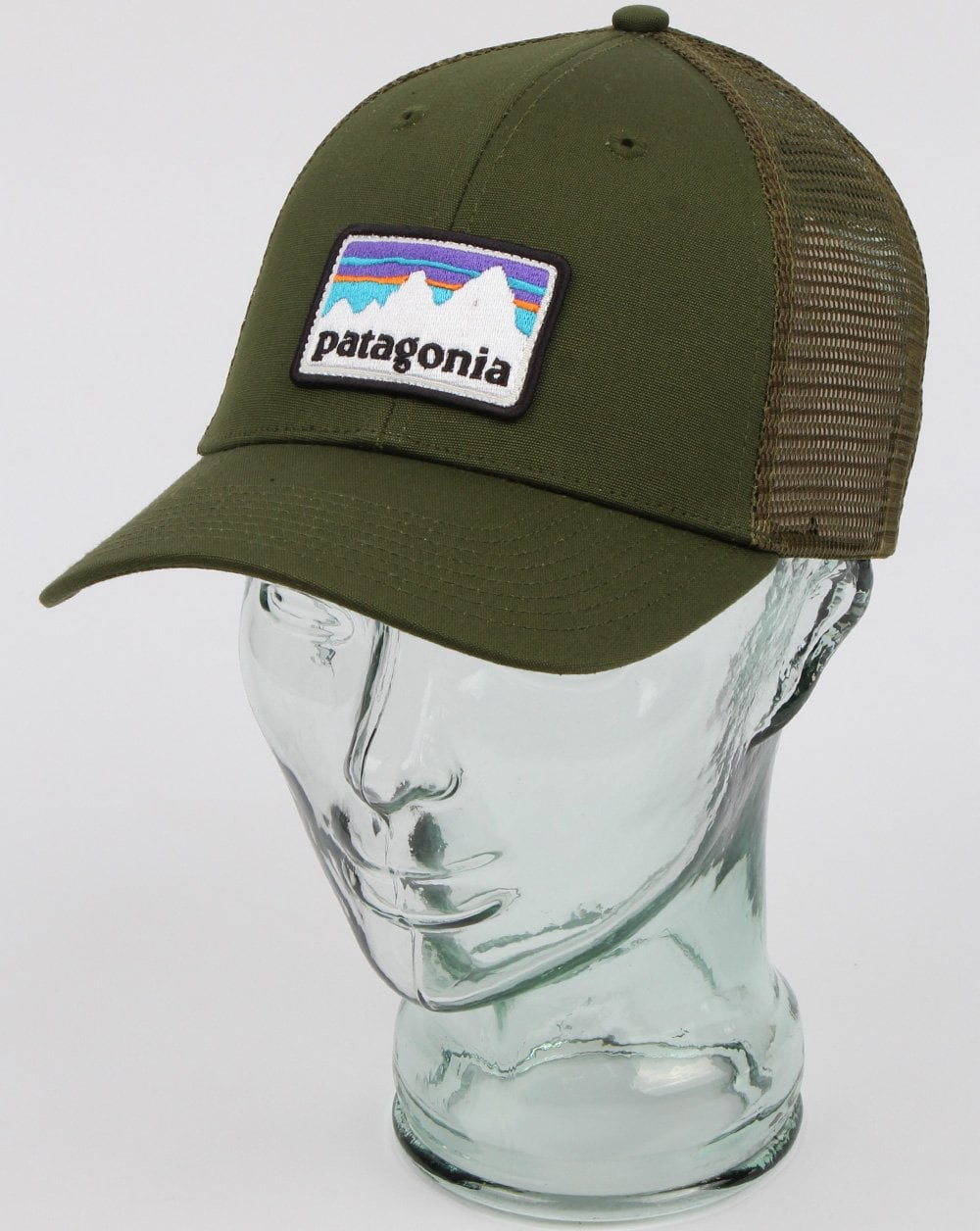 Patagonia Patagonia Shop Sticker Patch Lopro Trucker Hat Nomad Green 658a240b7ee