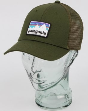 Patagonia Shop Sticker Patch Lopro Trucker Hat Nomad Green