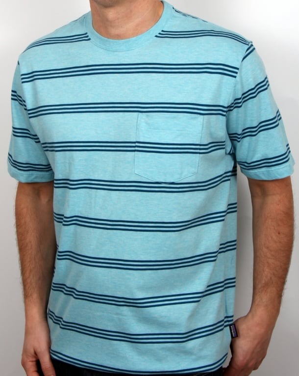 Patagonia Squeaky Clean Pocket T Shirt Cuban Blue