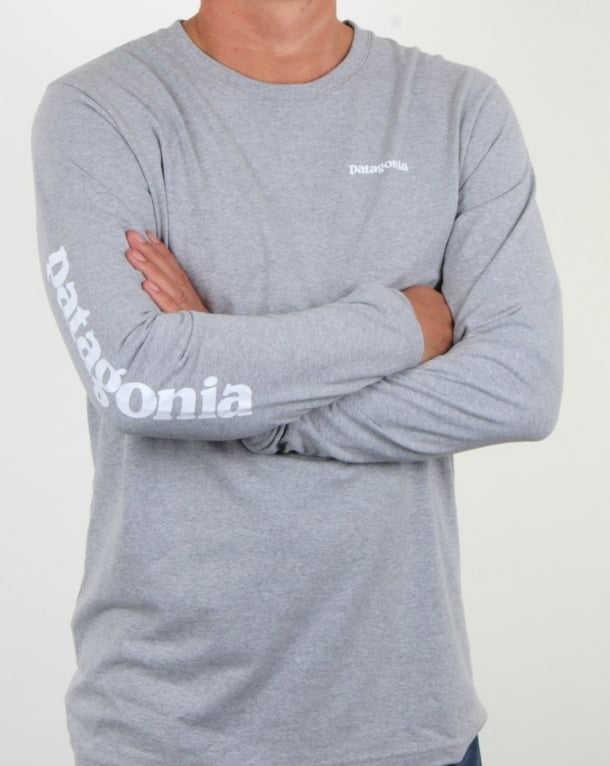 Patagonia Text Logo Responsibili-tee Drifter Grey