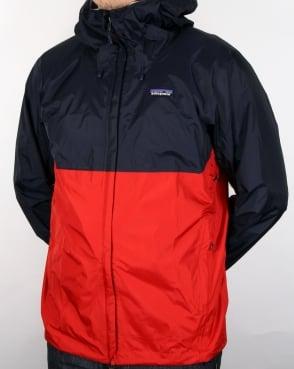 Patagonia Torrentshell Jacket Navy/red