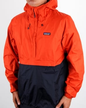 Patagonia Torrentshell Pullover Jacket Paintbrush Red