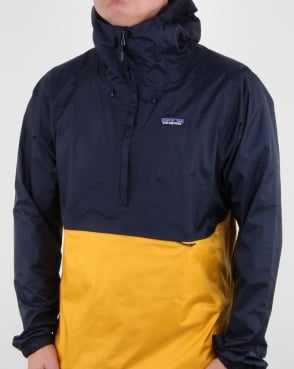 Patagonia Torrentshell Pullover Navy/yellow