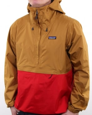 Patagonia Torrentshell Pullover Oaks Brown/fire
