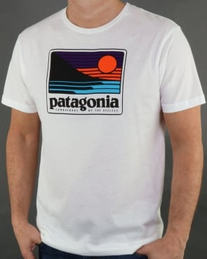 Patagonia Up And Out Organic T Shirt White
