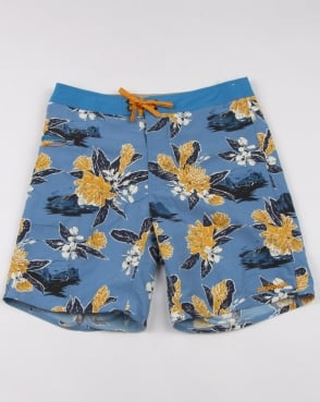 Patagonia Wavefarer 19 Boardshorts Railroad Blue